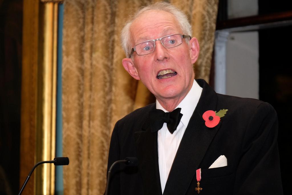 Julian Parker OBE announcing the Maritime Media Awards 2017