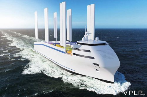Visualisation of a container 'windship'