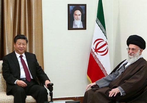China's President Xi Jinping visiting Iran's Supreme Leader Ali Khamenei in 2016