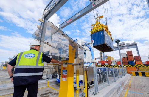 Container handling at London Gateway.
