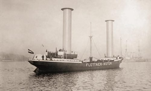 The innovative Flettner 'rotorship' Buckau in 1924