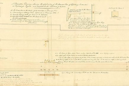 Descriptive plan for fitting HMS Sapphire with Harris's lightning conductor, 1831.