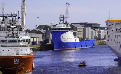Platform supply vessels at Aberdeen